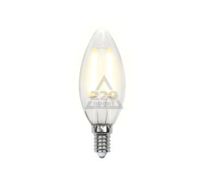 Лампа светодиодная UNIEL LED-C35-6W/WW/E14/FR PLS02WH