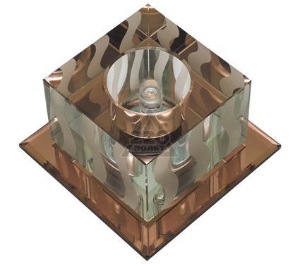 Светильник встраиваемый FAMETTO DLS-F126 G4 TEA/CLEAR