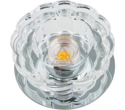 Светильник встраиваемый FAMETTO DLS-F301 10W CHROME/CLEAR