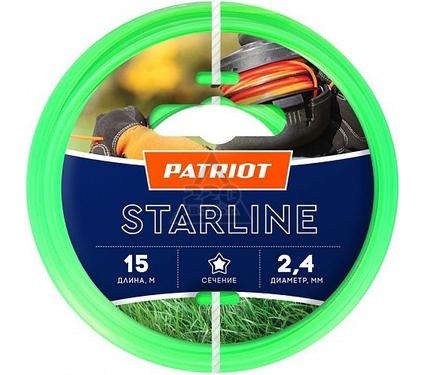 Леска для триммеров PATRIOT Starline D 2,4мм L 15м