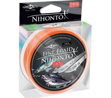 Шнур MIKADO NIHONTO FINE BRAID 0.16 orange 100м