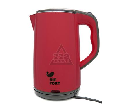 Чайник KITFORT КТ-607-2 красно-серый