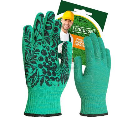 Перчатки ХБ СПЕЦSB Рябина зеленые
