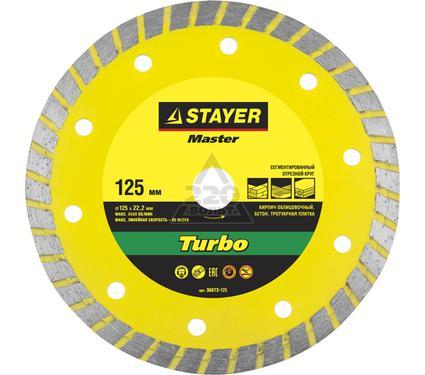 Круг алмазный STAYER MASTER 36673-125