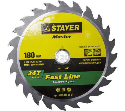 Диск пильный твердосплавный STAYER MASTER 3680-180-20-24