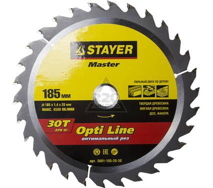 Диск пильный твердосплавный STAYER MASTER 3681-185-20-30