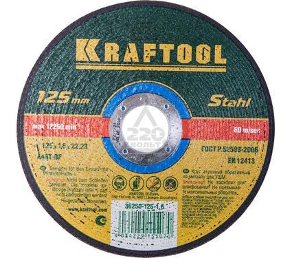 Круг отрезной KRAFTOOL 36250-125-1.6