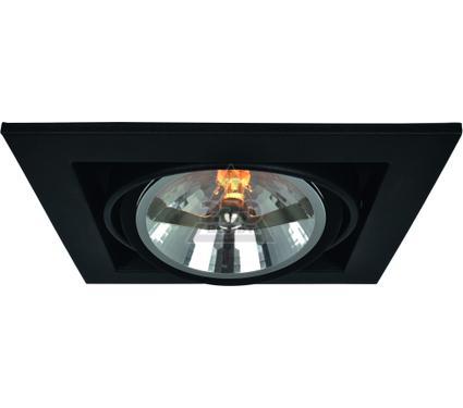 Светильник встраиваемый ARTE LAMP A5935PL-1BK