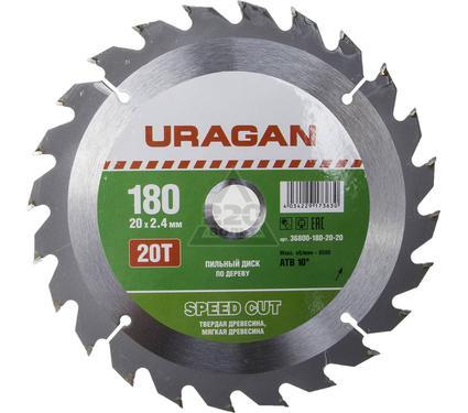 Диск пильный твердосплавный URAGAN 36800-180-20-20