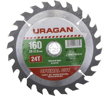 Диск пильный твердосплавный URAGAN 36801-160-20-24