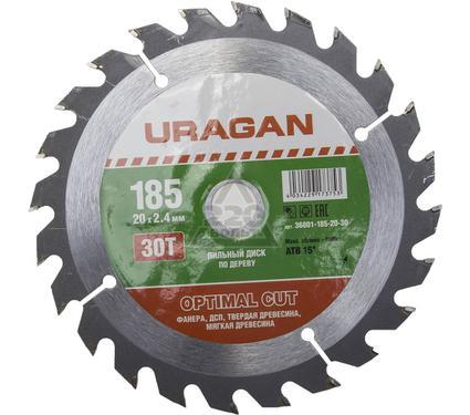 Диск пильный твердосплавный URAGAN 36801-185-20-30