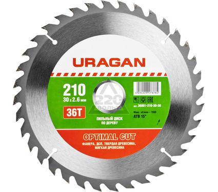 Диск пильный твердосплавный URAGAN 36801-210-30-36