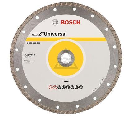 Круг алмазный BOSCH ECO Universal Turbo Ф230-22мм