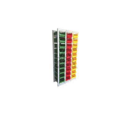 Стеллаж СТЕЛЛА CP-3 (1 основная +2 дополнительные) (зеленый/ красный/ желтый)
