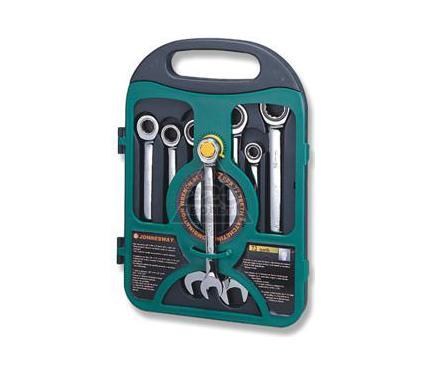 Набор комбинированных гаечных ключей в кейсе, 7 шт. JONNESWAY W45107S комбинированные трещоточные ключи 7шт