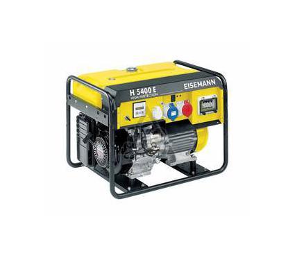 Бензиновый генератор EISEMANN H 5400 E