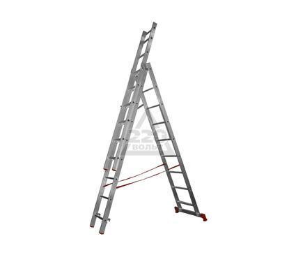 Лестница алюминиевая 3 х секционная НОВАЯ ВЫСОТА 3х9