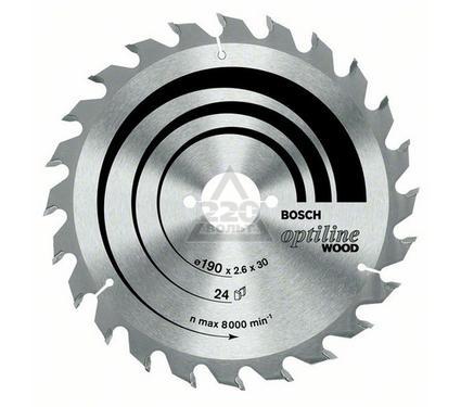 Диск пильный твердосплавный BOSCH Optiline Wood 130 X 20 X 20/16