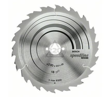 Диск пильный твердосплавный BOSCH Speedline Wood 160 X 18 X 20