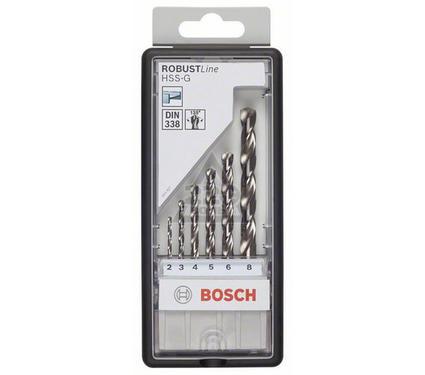 Набор сверл BOSCH Robust Line HSS-G 6 шт.