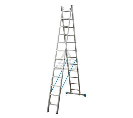 Лестница алюминиевая складная KRAUSE STABILO 2х12