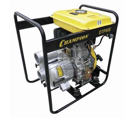 Дизельная мотопомпа CHAMPION DTP80E дизельная грязевая