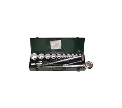 Набор торцевых головок с принадлежностями в металлическом кейсе, 15 предметов AIST Master 507115BS-M