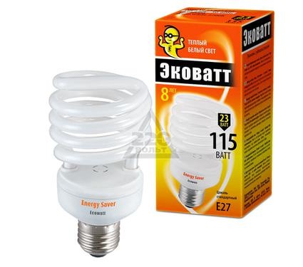 Лампа энергосберегающая ECOWATT Mini SP 23W 827 E27