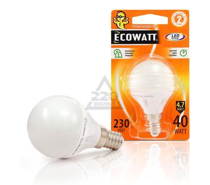 Лампа светодиодная ECOWATT P45 230В 4.7(40)W 2700K E14