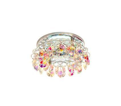 Светильник встраиваемый АКЦЕНТ Crystal 540 хром/цветной