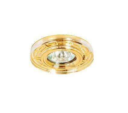 Светильник встраиваемый АКЦЕНТ Crystal 805 золото/прозрачный