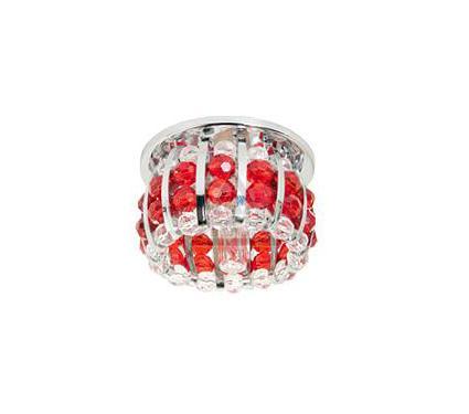 Светильник встраиваемый АКЦЕНТ Crystal 865 хром/прозрачный/красный