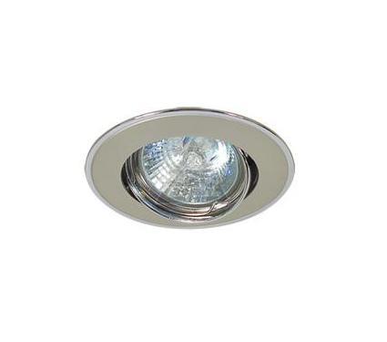 Светильник встраиваемый АКЦЕНТ 103EQ жемчужный никель/хром