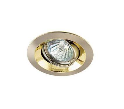 Светильник встраиваемый АКЦЕНТ 11159GA матовый никель/золото