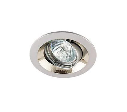 Светильник встраиваемый АКЦЕНТ 11159XQ жемчужный хром/хром