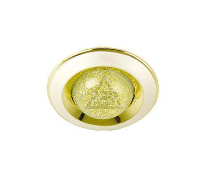 Светильник встраиваемый АКЦЕНТ 200BA жемчужное золото/золото