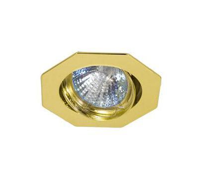 Светильник встраиваемый АКЦЕНТ WL-165 золото