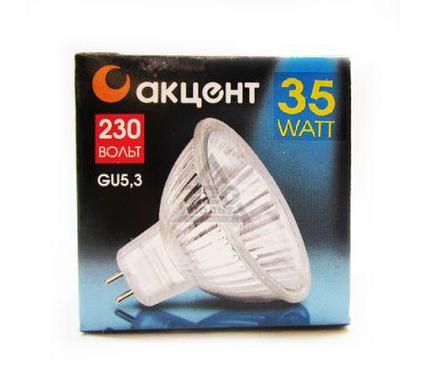 Лампа галогенная АКЦЕНТ JCDR 230В  35W GU5.3 с отражателем и защитным стеклом