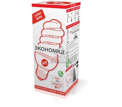 Лампа энергосберегающая ЭКОНОМКА 13Ватт 4200К Е27 Т3