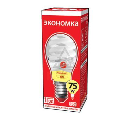 Лампа энергосберегающая ЭКОНОМКА 15Ватт 2700К Е14 Т2