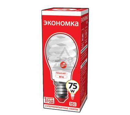 Лампа энергосберегающая ЭКОНОМКА 15Ватт 4200К Е14 Т2