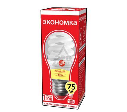 Лампа энергосберегающая ЭКОНОМКА 15Ватт 2700К Е27 Т2