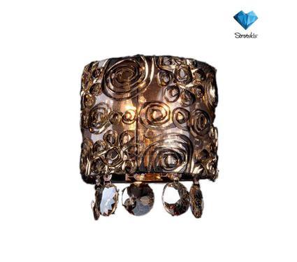 Бра EUROSVET 3400/2  золото/тонированный хрусталь