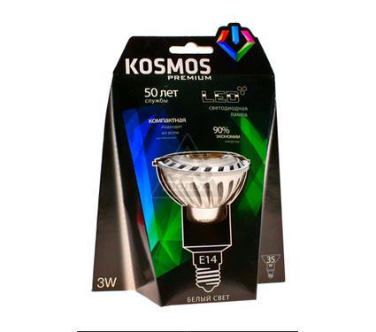 Лампа светодиодная КОСМОС LED 3Вт JDR E14 230v  4500K