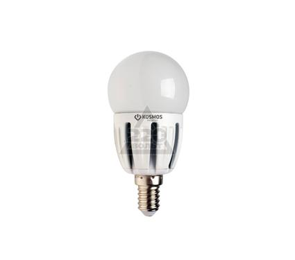 Лампа светодиодная КОСМОС LED 5Вт шар 45мм E14 230В  3000K