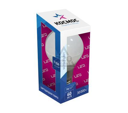 Лампа светодиодная КОСМОС LED А60 7Вт Е27 230В  4500K
