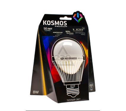 Лампа светодиодная КОСМОС LED 8Вт A60 E27 230v 3000K