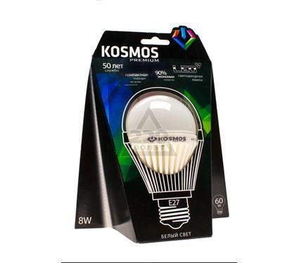 Лампа светодиодная КОСМОС LED 8Вт A60 E27 230v 4500K