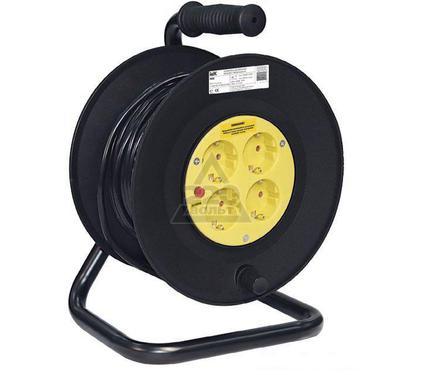 Удлинитель IEK УК50 50м.  на катушке 4гнезда с заземлением ПВС 3*1,5