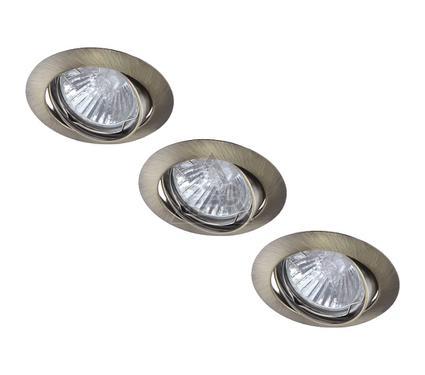 Светильник встраиваемый ARTE LAMP BASIC A2105PL-3AB